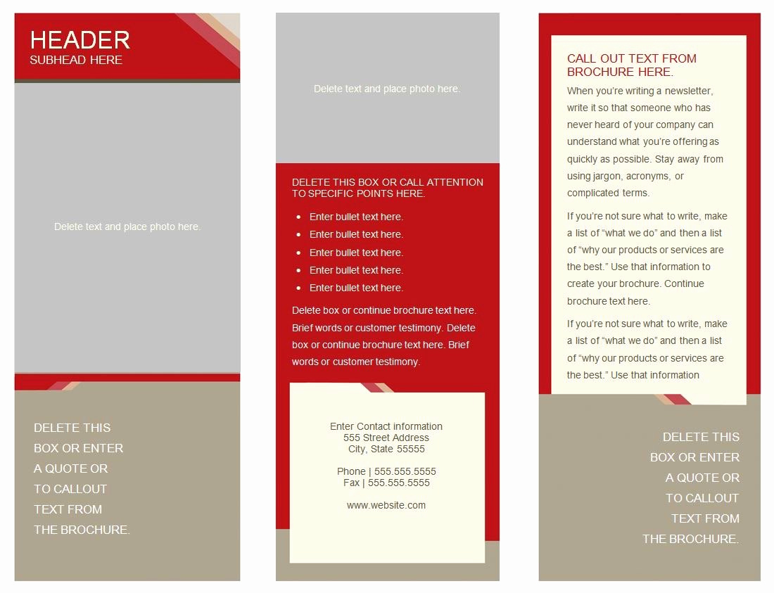 Brochure Template for Google Docs Luxury 6 Panel Brochure Template Google Docs