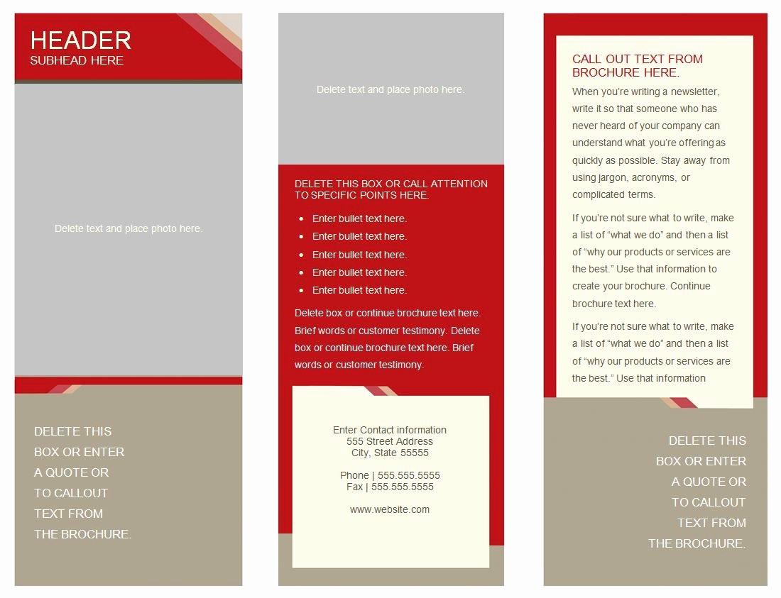 Brochure Template for Google Docs Luxury 6 Panel Brochure Template Google Docs