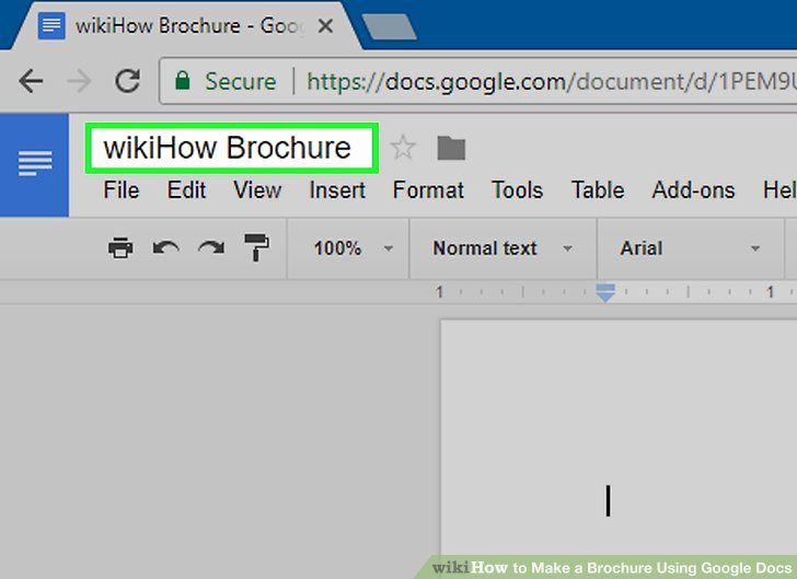 Brochure Template for Google Docs New How to Make A Brochure Using Google Docs with