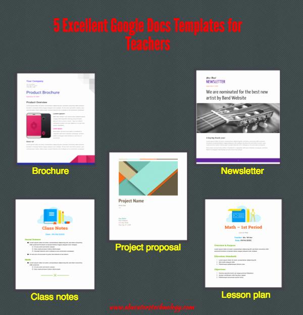 Brochure Templates for Google Docs Beautiful 5 Excellent Google Docs Templates for Teachers