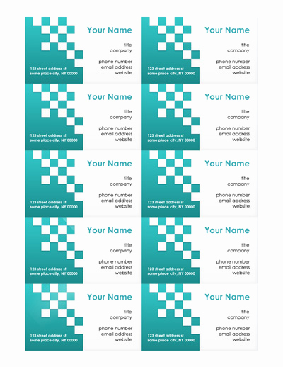 Buisness Card Templates for Word Beautiful Free Business Card Templates