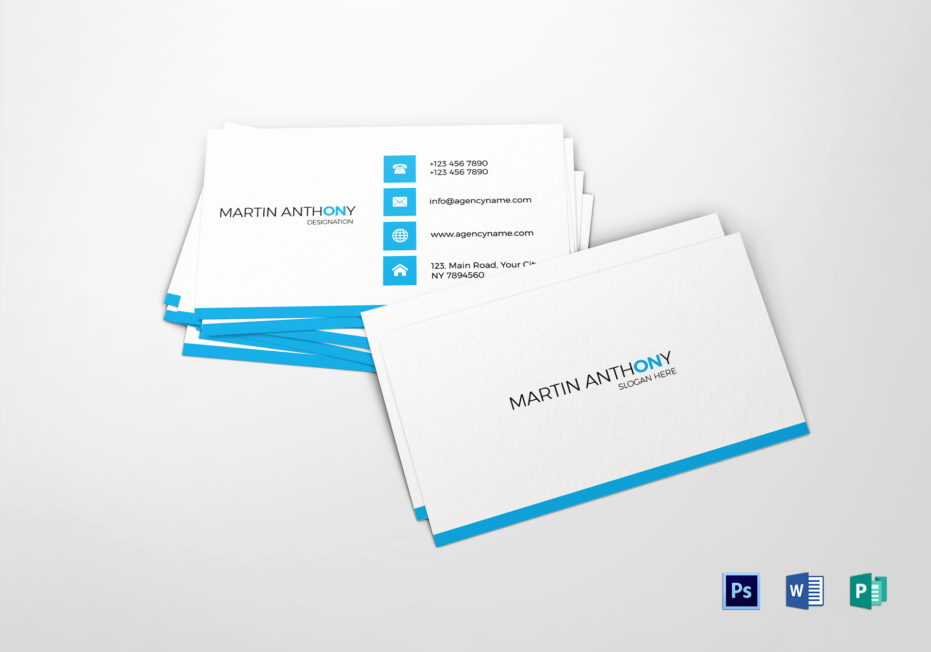 Buisness Card Templates for Word Elegant Simple Business Card Design Template In Psd Word Publisher