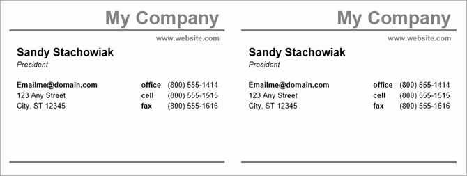 Buisness Card Templates for Word New How to Make Free Business Cards In Microsoft Word with