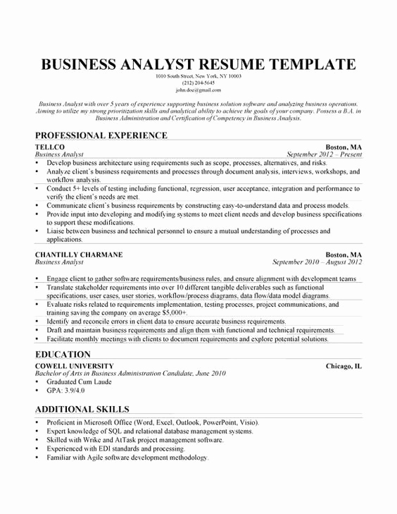 Business Analyst Resume Examples Beautiful Pinterest • the World's Catalog Of Ideas