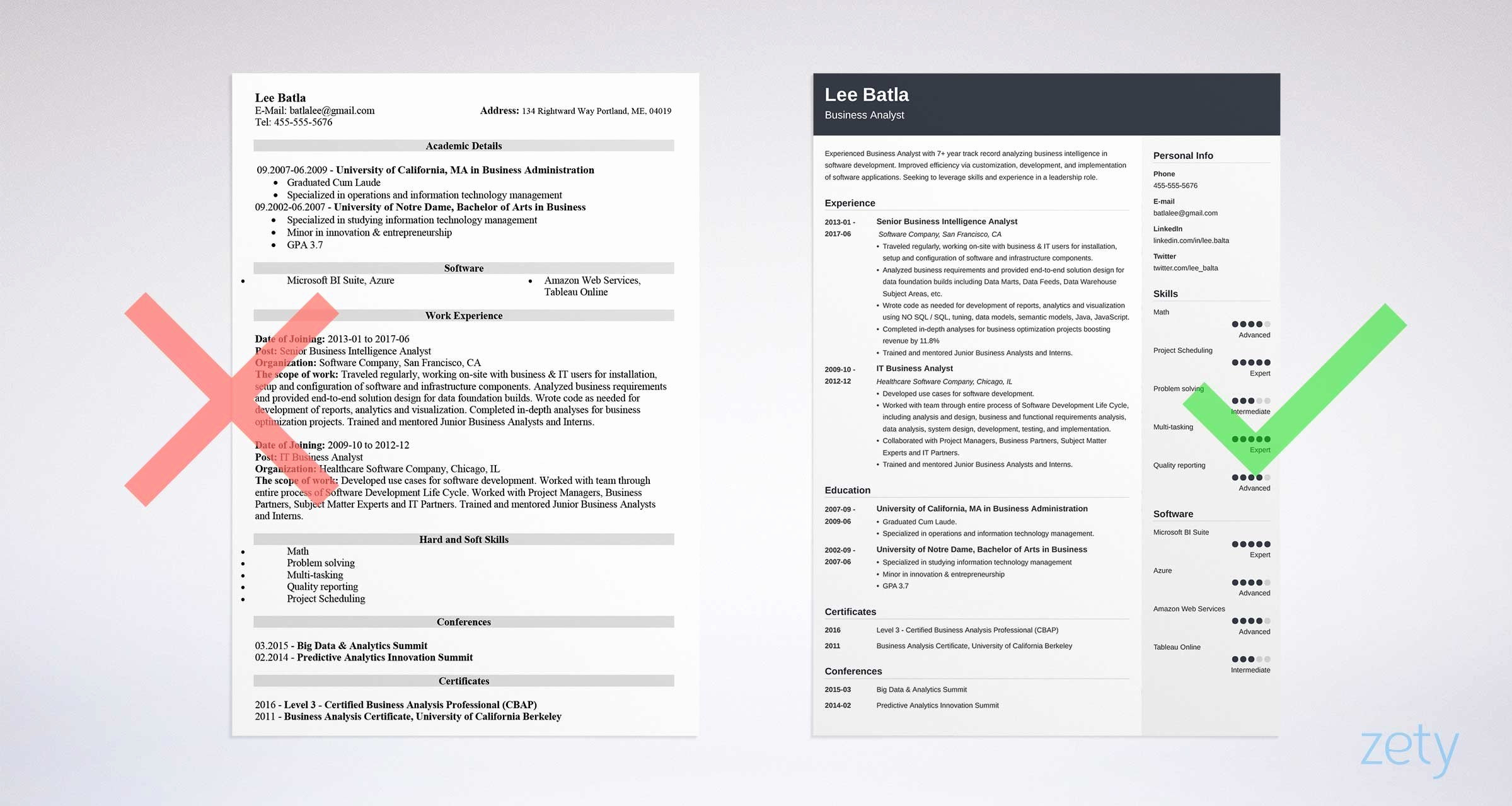 Business Analyst Resume Examples New Business Analyst Resume Sample & Plete Guide [ 20