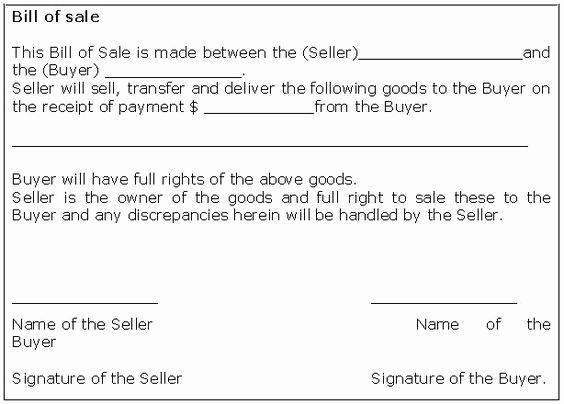 Business Bill Of Sale Lovely Bill Of Sale Receipt Bill Sale form Template