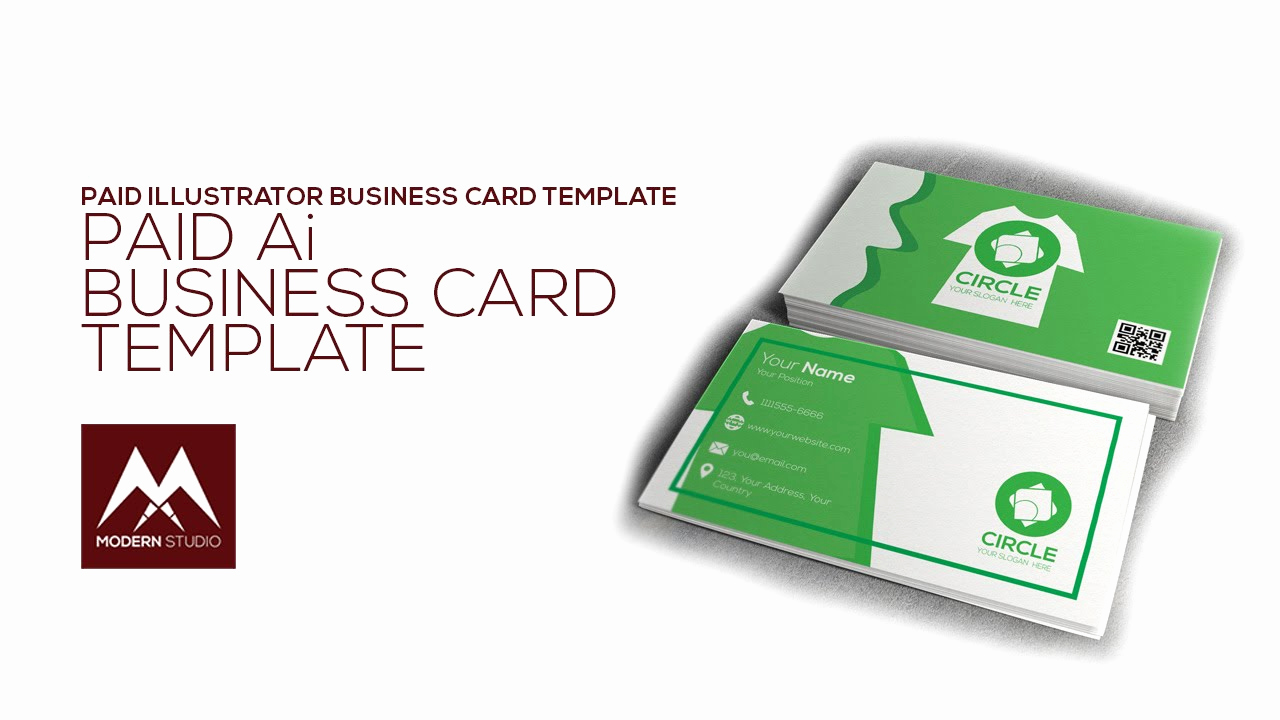 Business Card Illustrator Template Awesome Business Card Template Illustrator