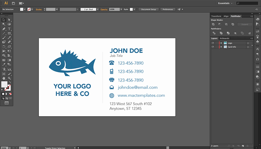 Business Card Illustrator Template Best Of Business Cards Template for Pages or Illustrator