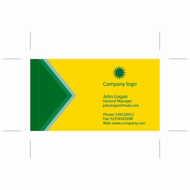 Business Card Illustrator Template Fresh Yellow Green Business Card Template Free Vector Image In