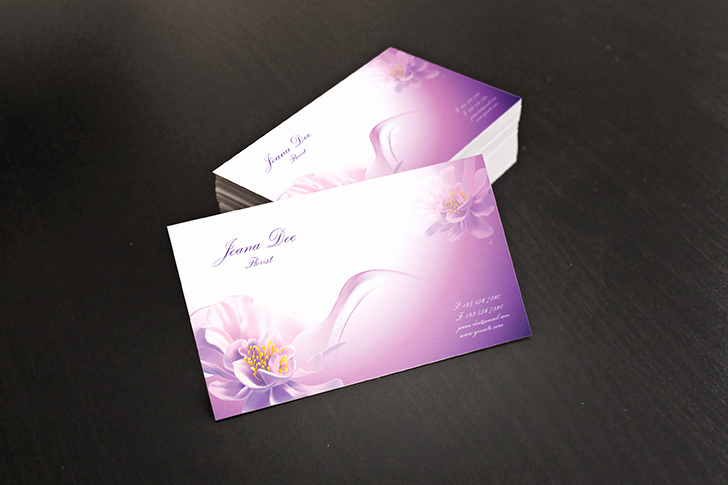 Business Card Illustrator Template Lovely Free Floral Business Cards Illustrator Template by