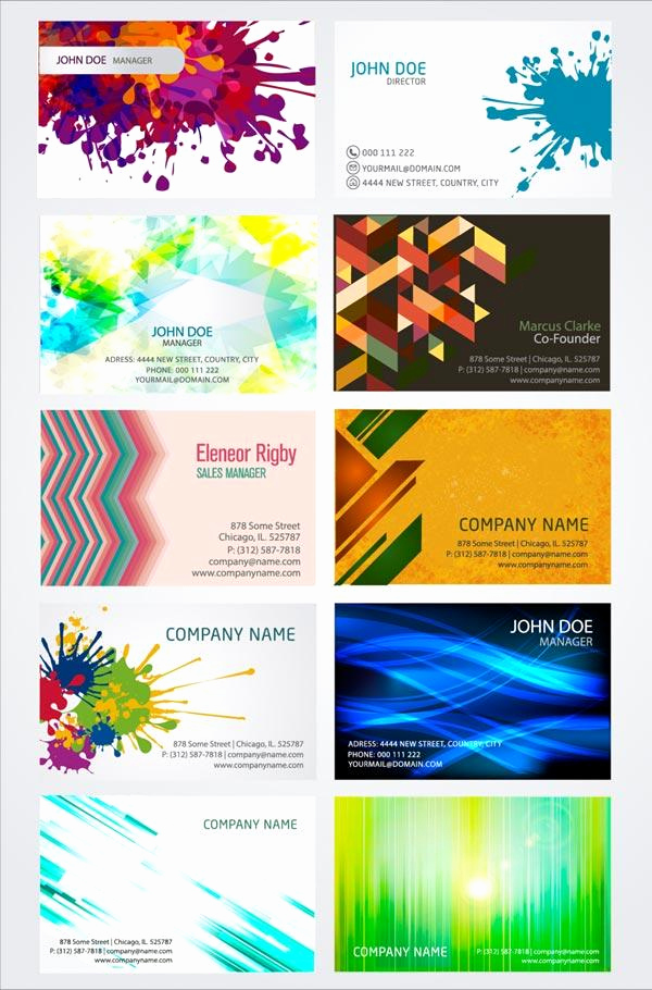 Business Card Illustrator Template Luxury Artistic Business Card Design Templates Vector Illustrator