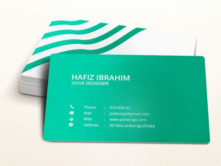Business Card Illustrator Template New Green Illustrator Business Card Template Free Download
