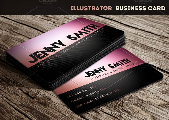 Business Card Illustrator Template Unique Illustrator Business Card Business Card Templates