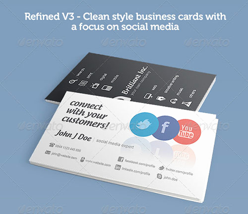 Business Card social Media Awesome 50 Creative Psd Business Card Templates