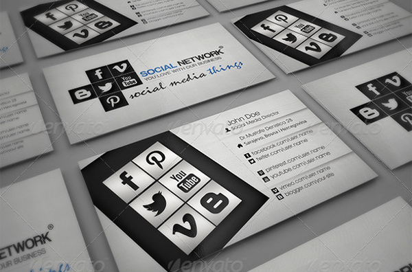 Business Card social Media Elegant 13 social Media Business Card Templates Psd Word Ai