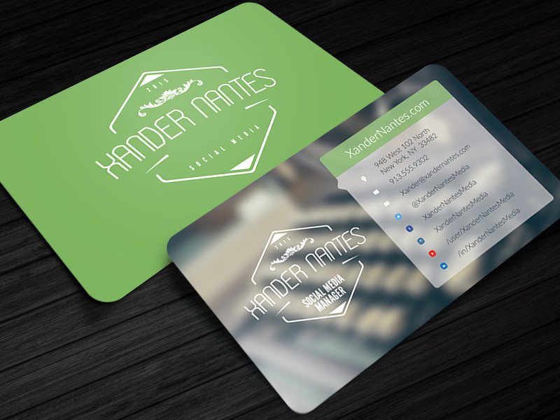 Business Card social Media Elegant social Box social Media Business Card Template2 by