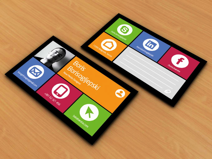Business Card social Media Inspirational Design social Media or Windows Style Business Card by