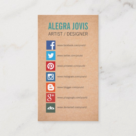 Business Card social Media Lovely social Media Icons Symbols Business Card