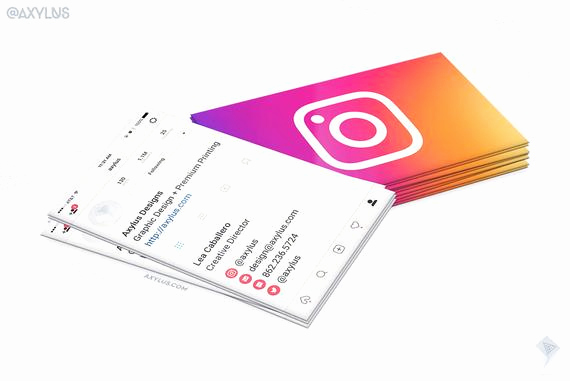 Business Card social Media New Ig Profile Business Cards social Media Design and Printing