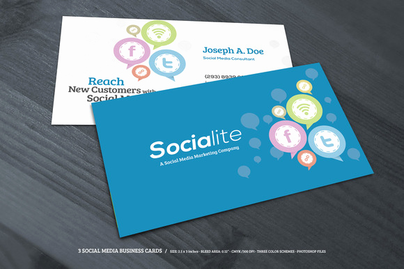 Business Card social Media New social Media Business Cards Samples and Design Ideas