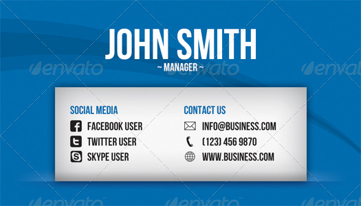 Business Card social Media Unique social Media Business Card by Artnook