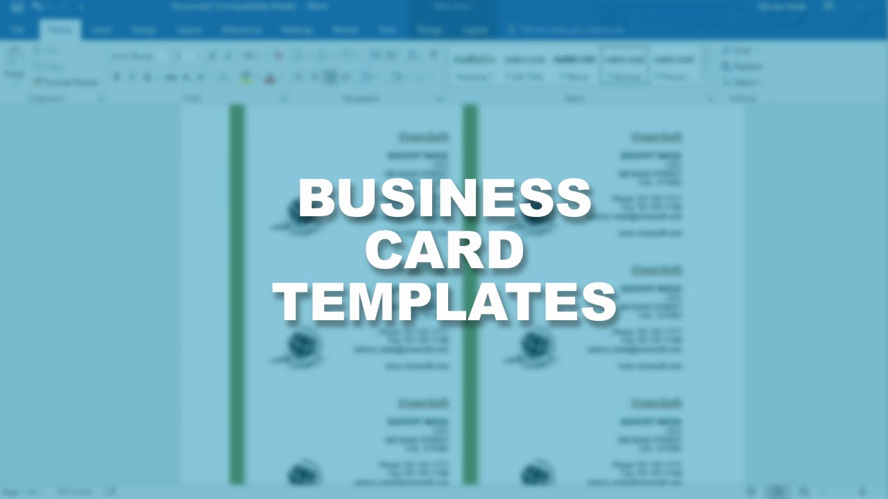 Business Card Template Microsoft Word Unique Microsoft Word 2016 Essential Training