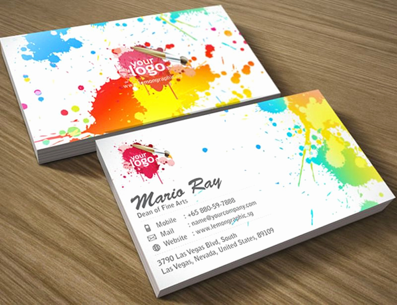 Business Cards for Artists Awesome Beautiful Examples Of Colorful Business Card Designs