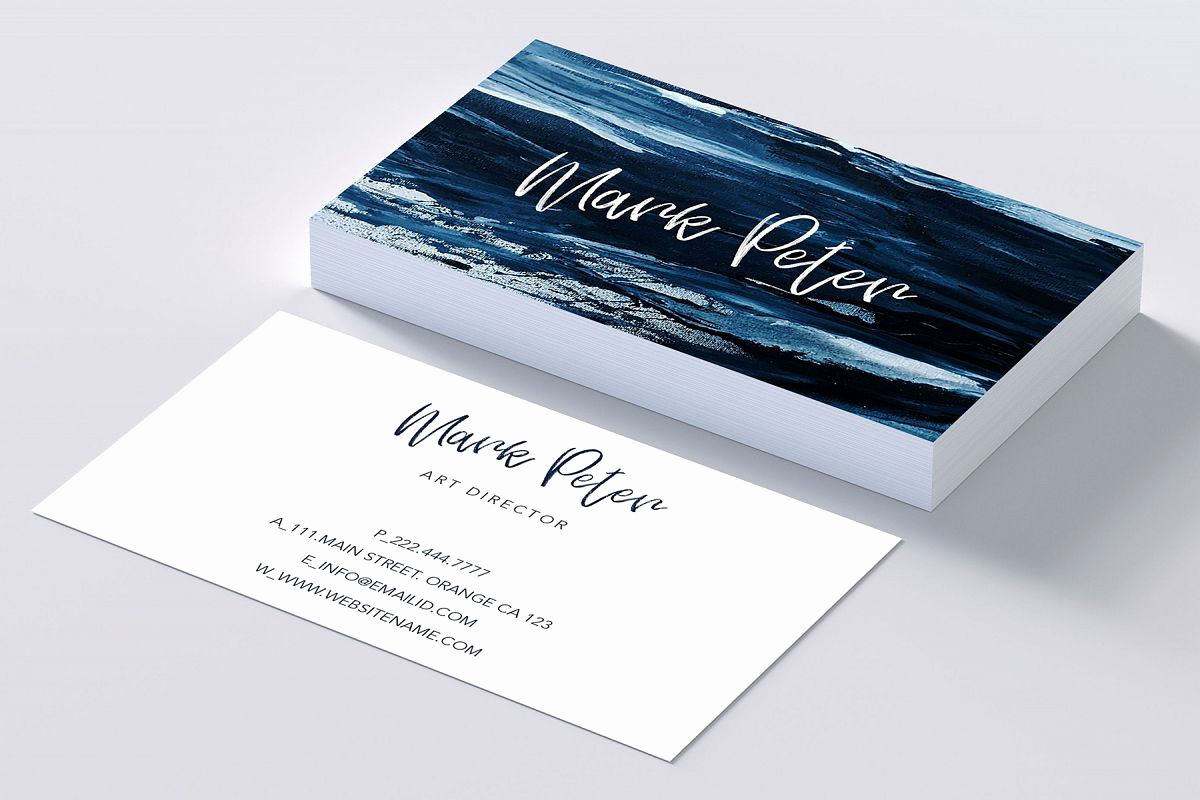 Business Cards for Artists Beautiful Art Canvas Effects Business Card by Cre
