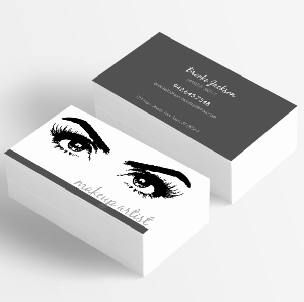 Business Cards for Artists Beautiful Makeup Artist Business Card Eyes Eyelashes • Itw Visions