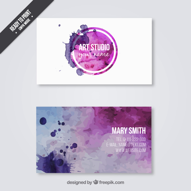 Business Cards for Artists Best Of Business Card for Art Studio Vector