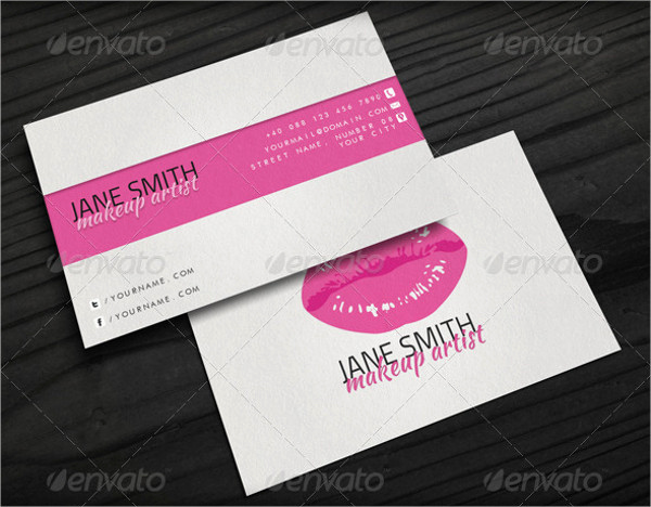 Business Cards for Artists Elegant 15 Makeup Artist Business Cards In Psd Vector Eps Ai