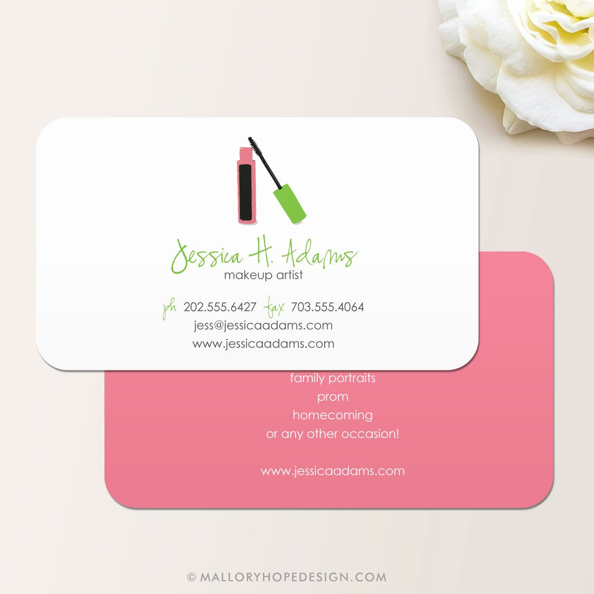 Business Cards for Artists Elegant Makeup Artist Business Card Calling Card Mommy Card