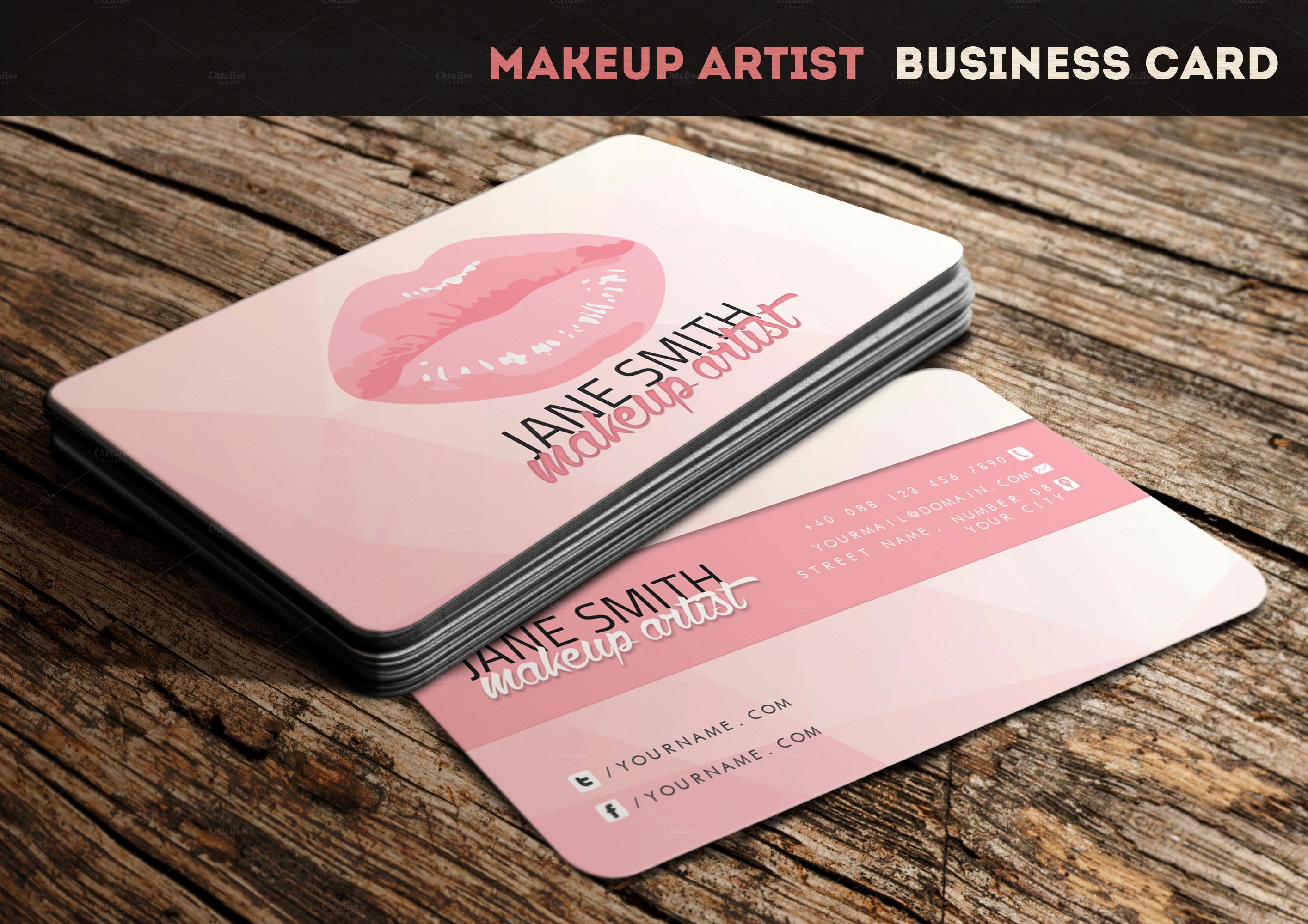 Business Cards for Artists Fresh Makeup Artist Business Card Business Card Templates On