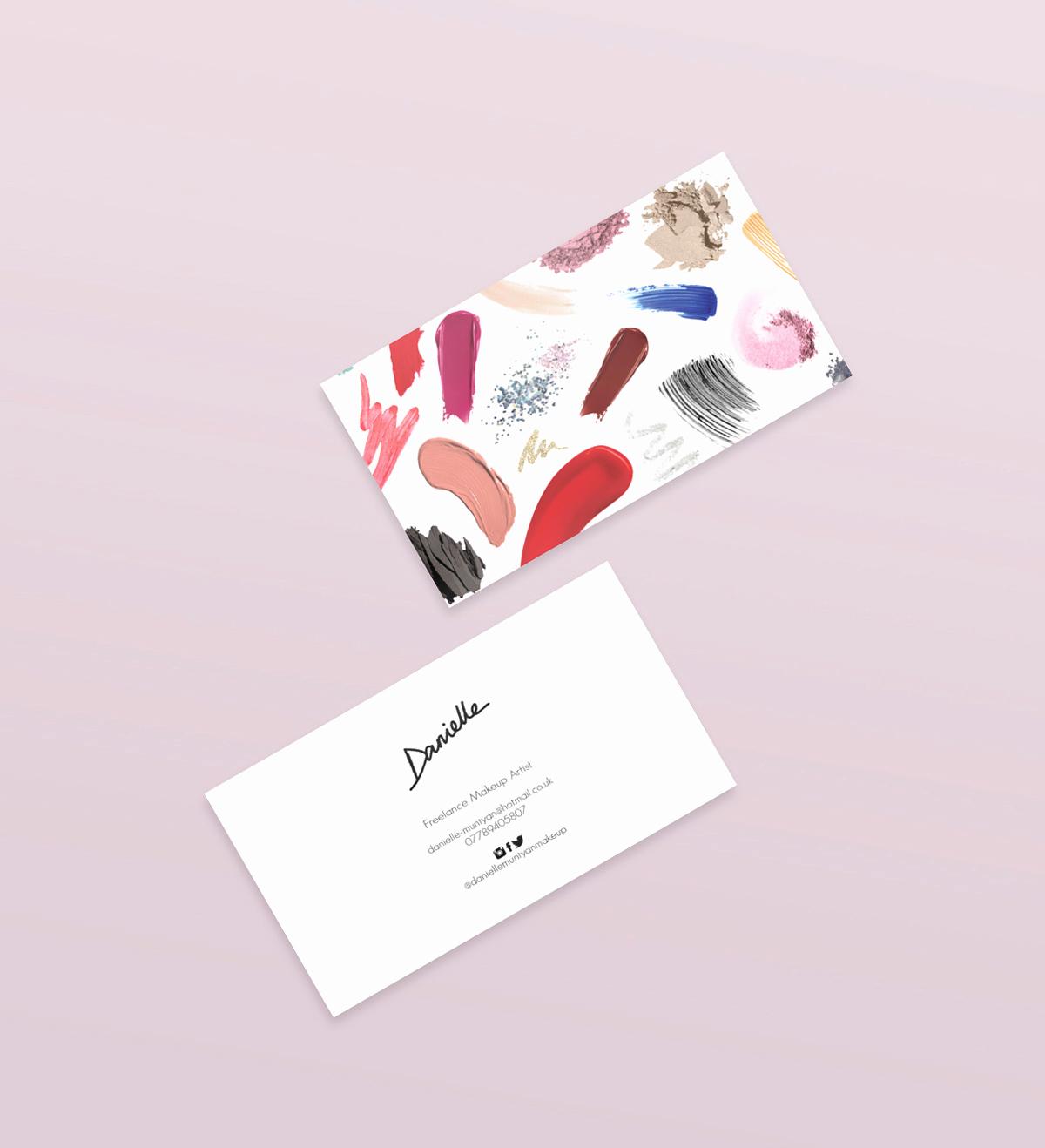 Business Cards for Artists Fresh Makeup Artist Business Cards On Behance