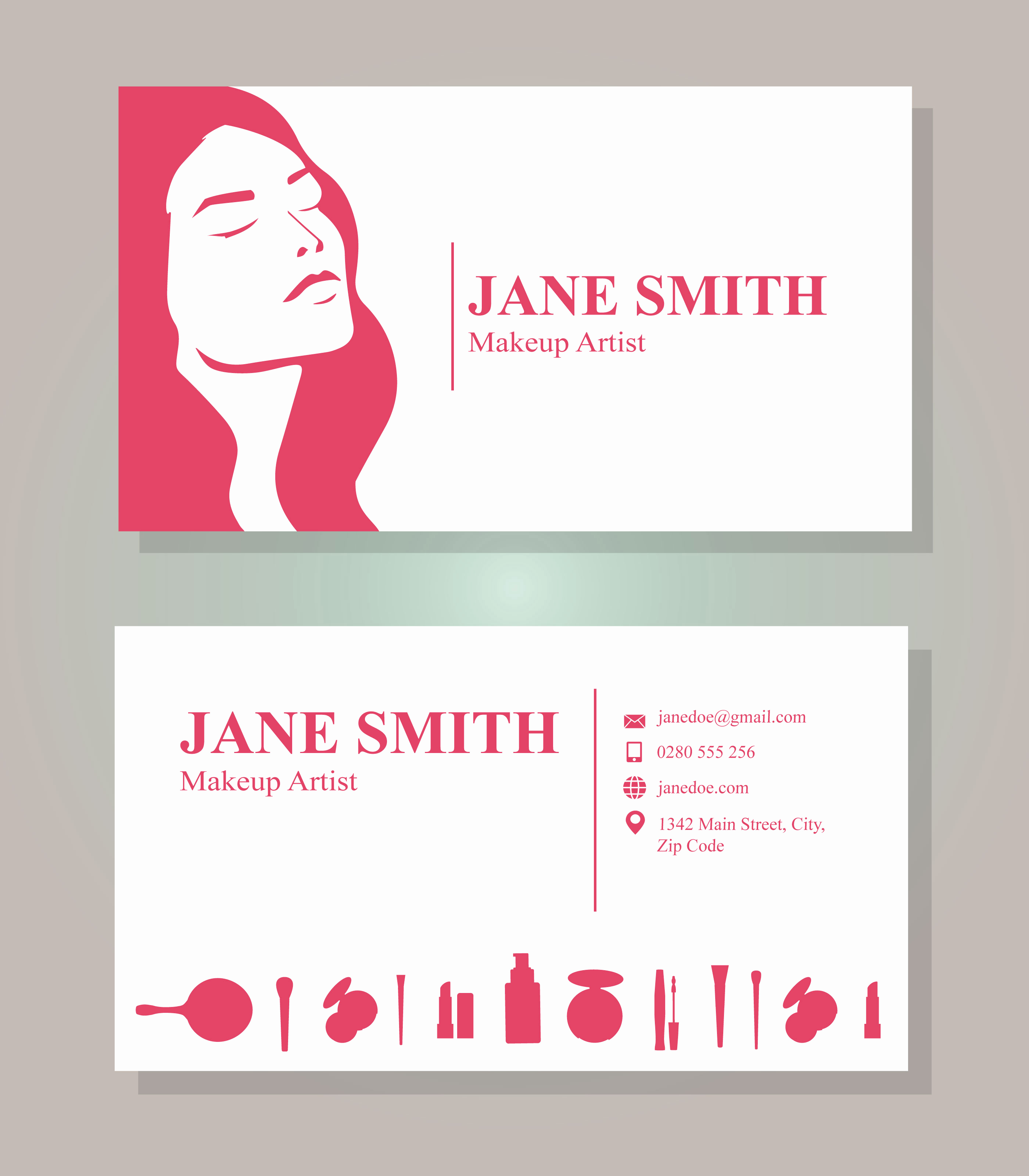 Business Cards for Artists Inspirational Makeup Artist Business Card Template Download Free