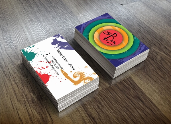 Business Cards for Artists Lovely 23 Artistic Business Card Templates In Word Psd Apple