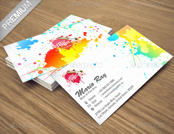 Business Cards for Artists Luxury 50 Best Psd Shop Business Card Templates