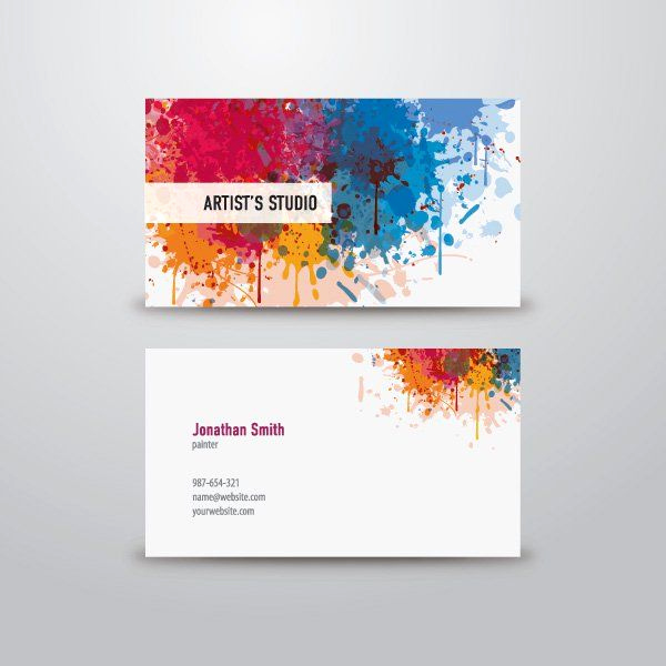 Business Cards for Artists New Artist Business Card Graphic Available In Eps Vector