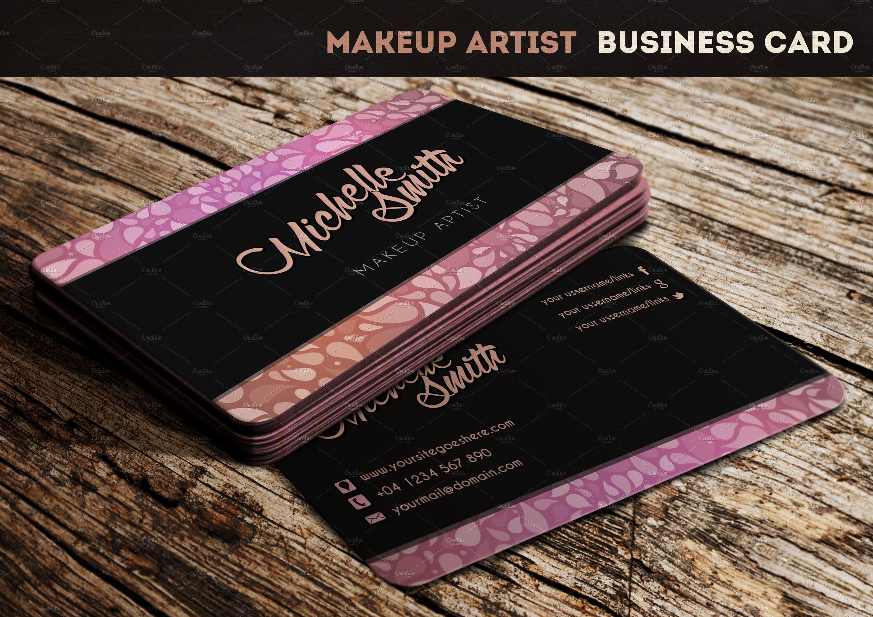 Business Cards for Artists Unique Makeup Artist Business Card Business Card Templates