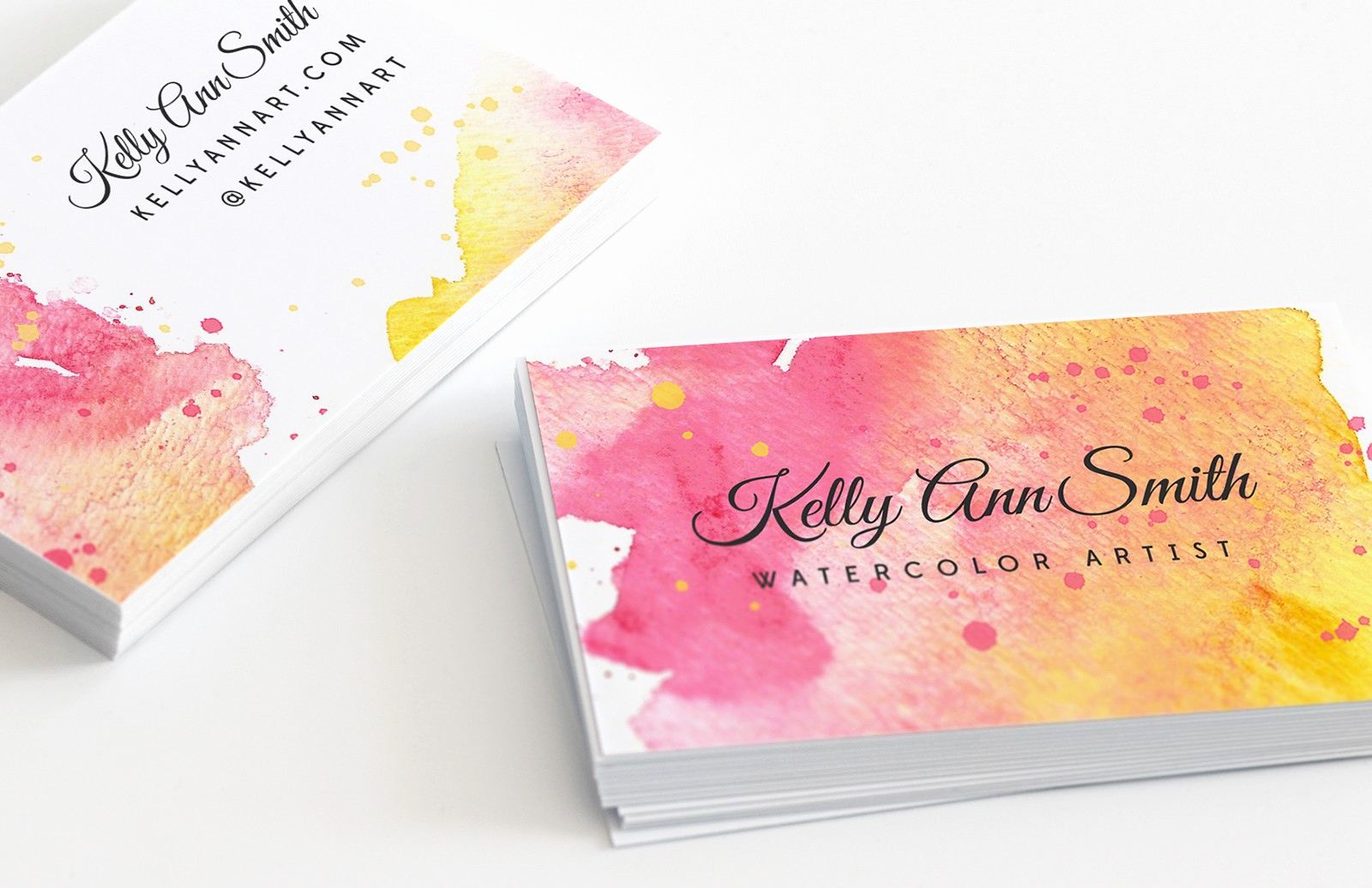 Business Cards for Artists Unique Watercolor Artist Business Card Template