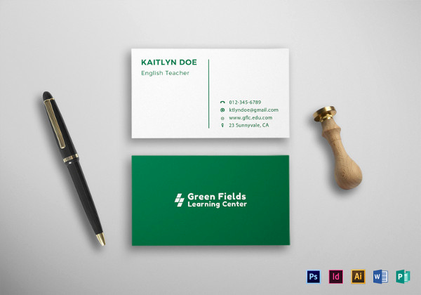 Business Cards for Students Awesome 18 Student Business Cards Free Printable Psd Eps Word