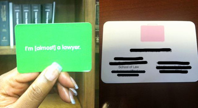 Business Cards for Students Inspirational 16 Signs that You're A Basic Law Student Legal Cheek