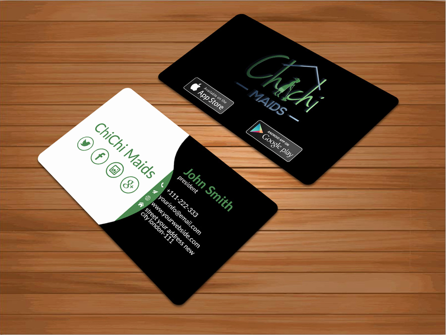 Business Cards with social Media Beautiful Design Modern Business Card with social Media Icons and