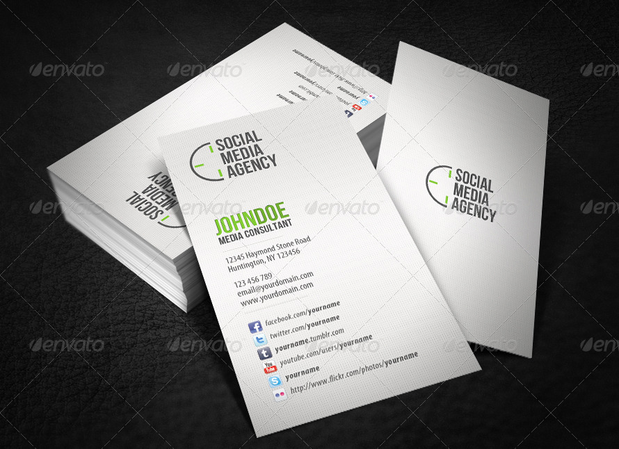 Business Cards with social Media Elegant social Media Business Card by Glenngoh