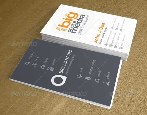 Business Cards with social Media Fresh 20 Creative Business Card Templates that Help You Stand