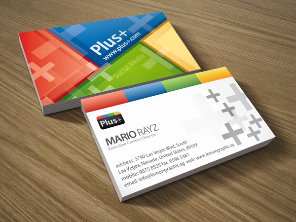 Business Cards with social Media Inspirational Google social Media Business Card – Lemon Graphic