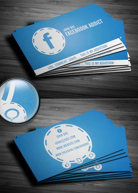 Business Cards with social Media Luxury social Media Business Cards 20 Creative Examples