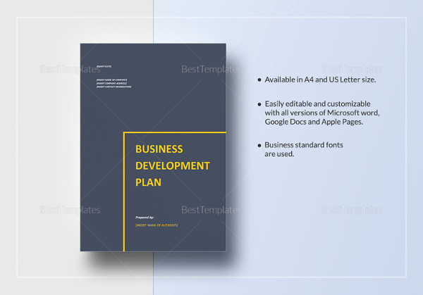 Business Development Plan Template Awesome Business Development Plan 13 Free Word Documents
