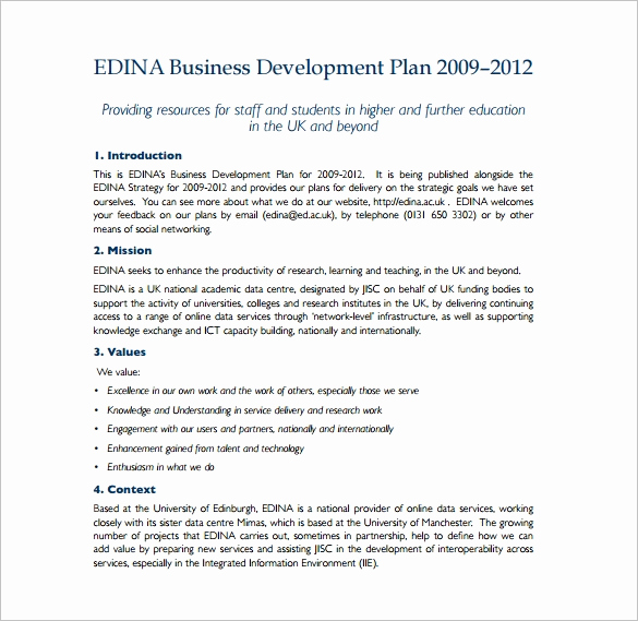 Business Development Plan Template Best Of 14 Development Plan Templates Free Sample Example