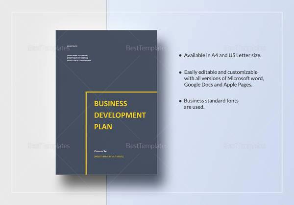 Business Development Plan Template Best Of 29 Sample Business Plan Templates